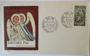 Spanien FDC Weihnachten 1962, Motiv Engel (6527)
