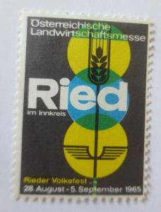 Vignetten,  Österreichische Landwirtschaftsmesse Ried 1965 ♥ (27296)