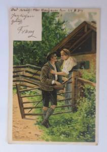 Künstlerkarte, Frauen, Männer, Mode, Trachten, 1904, Mailick  ♥  (57008)