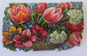 Oblaten, Blumen,      8 cm x 5 cm ♥