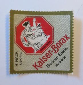 Vignetten  Kaiser-Borax Bester Badezusatz H. Mack Ulm  ♥ (28465)