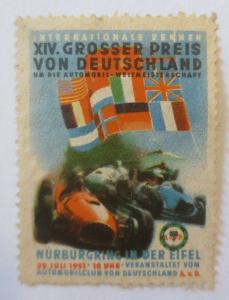 Vignetten  XIV. Großer Preis v. Deutschland Nürburgring in der Eifel 1951♥(4864)