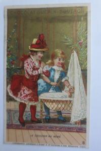 Kaufmannsbilder, Chocolat Guerin-Boutron, Kinder, Puppe, 1889, Paris   ♥