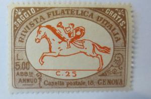 Vignetten, Rivista Filatelicia d´Italia   Castella Genova  ♥  (80099)