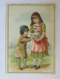 Kaufmannsbilder, C. Arnold-Vögeli, Kinder, Katzen,   1890  ♥