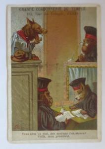 Kaufmannsbilder, Grande Cordonnerie du Temple, Katzen, Wolf, Affe,1900 ♥