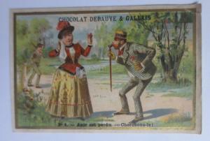 Kaufmannsbilder, Frauen, Männer, Mode, Chocolat-Eclair, 1889 ♥