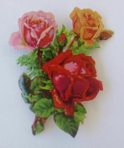 Oblaten, Rosen, Blumen,       6,5 cm x 5 cm ♥