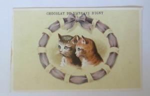 Kaufmannsbilder, Chocolat de L´abrave Dígny,  Katzen,   1900  ♥
