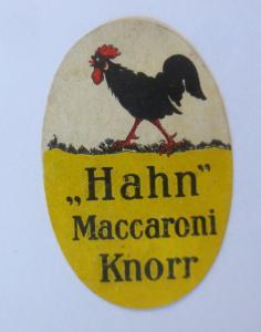 Vignetten Hahn Maccaroni Knorr 1910 ♥ (19646)