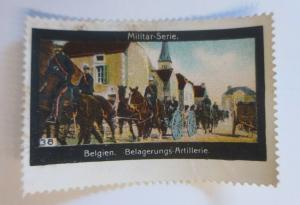Vignetten Militär Serie  Belgien Belagerungs Artillerie  1910 ♥ (12661)