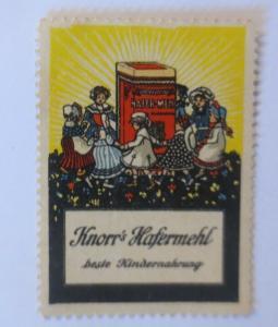 Vignetten Knorr Hafermehl  beste Kindernahrung 1910 ♥ (19644)