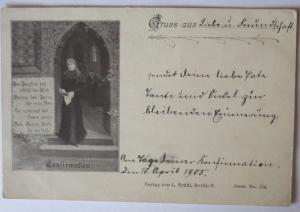Konfirmation, Zur Jungfrau hold erblüht das Kind, Verlag Brühl Berlin (22821)