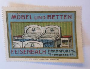 Vignetten Möbel und Betten F. Eisenbach  Frankfurt a. M.  1910 ♥ (6735)