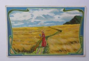 Kaufmannsbilder, Chocolat, Milka,  Landschaft, Frauen, 1900 ♥