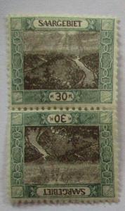 Saargebiet Michel Nr. 58 Kehrdruck postfrisch (22777)