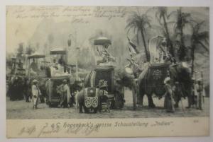 Tiere, Elefanten, Hagenbeck´s große Schaustellung Indien ♥ (17621)