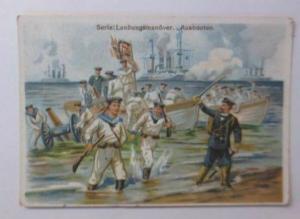 Kaufmannsbilder, Serie Landungsmanöver Ausbooten ♥