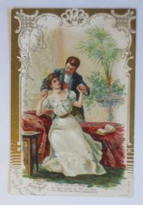 Künstlerkarte, Männer, Frauen, Mode, 1904, Prägekarte  ♥ (1061)