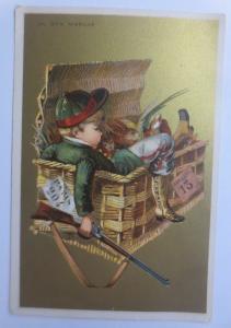 Kaufmannsbilder, Au Bon Marche,  Kinder, Jäger, Kiste,  1889   ♥