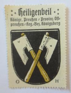Reklamemarke  Wappen aus  Heiligenbeil Königreich Preußen 1910  (15215)