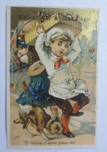 Kaufmannsbilder, Cacao, Chocolat Eclair, Kinder, Bäcker, Hund, 1889 ♥