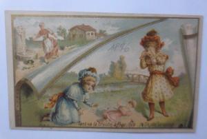 Kaufmannsbilder, Chicoree d´ Alsace,     Kinder, Puppe,    1896 ♥