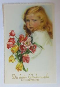 Geburtstag, Kinder, Mode, Blumen, Tulpen, 1930 ♥ (16758)