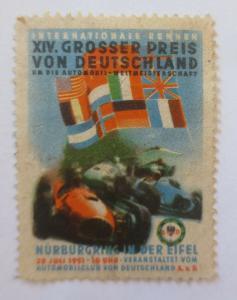 Vignetten  XIV. Großer Preis v. Deutschland Nürburgring in der Eifel 1951♥(3508)