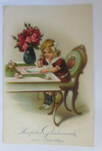 Geburtstag,, Kinder, Mode, Brief, Blumen,  1931 ♥ (16757)