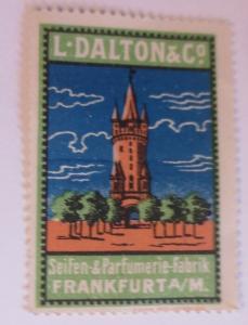 Vignetten L-Dalton &Co. Seifen 6 Parfumerie Fabrik  Frankfurt A/M. 1900 ♥(36751)
