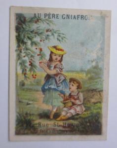 Kaufmannsbilder, Au Pere Gniafron, Paris, Kinder, Kirschen, 1898 ♥