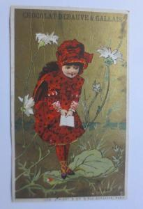 Kaufmannsbilder, Chocolat  Debauve & Gallais, Kinder, Mode, 1889 ♥