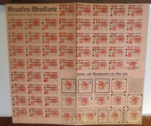Lebensmittelkarten, Stadt Stuttgart,  Käse, Butter, Brot, Mehl,  1919 ♥ (X183)