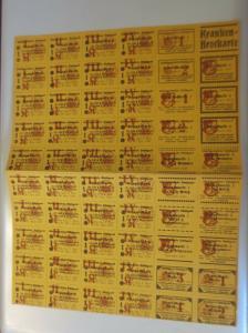 Lebensmittelkarten, Stadt Stuttgart,  Brot, Mehl,  1918 ♥ (X182)