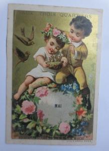 Kaufmannsbilder, Trois Quartiers, Mai, Kinder, Nest, Vogel,    1882 ♥