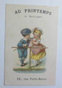 Kaufmannsbilder, Au Printemps, Kinder, Angeln,   1898 ♥