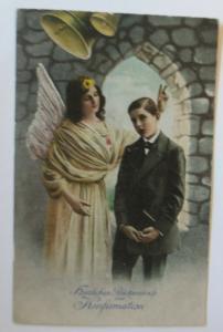 Konfirmation, Engel, Kinder, Segen,  1910 ♥  (72461)