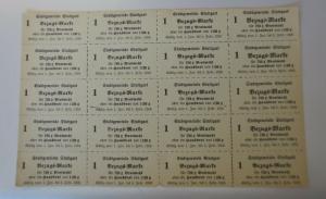 Lebensmittelkarten, Stadt Stuttgart,  Brot, Mehl,  1916 ♥ (X180)