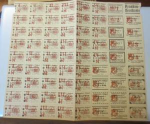 Lebensmittelkarten, Stadt Stuttgart,  Brot, Mehl,  1921 ♥ (X179)