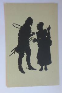 Künstlerkarte, Scherenschnitt, 1920, Paul Konewka ♥ (47249)