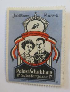 Vignetten Palast-Schuhhaus Jubiläums Marke Frankfurt a. M.  1900 ♥ (10312)