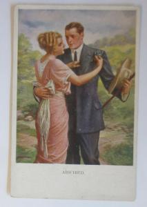 Künstlerkarte, Frauen, Männer, Mode, Abschied,  1920, Munk Vienne  ♥ (57727)