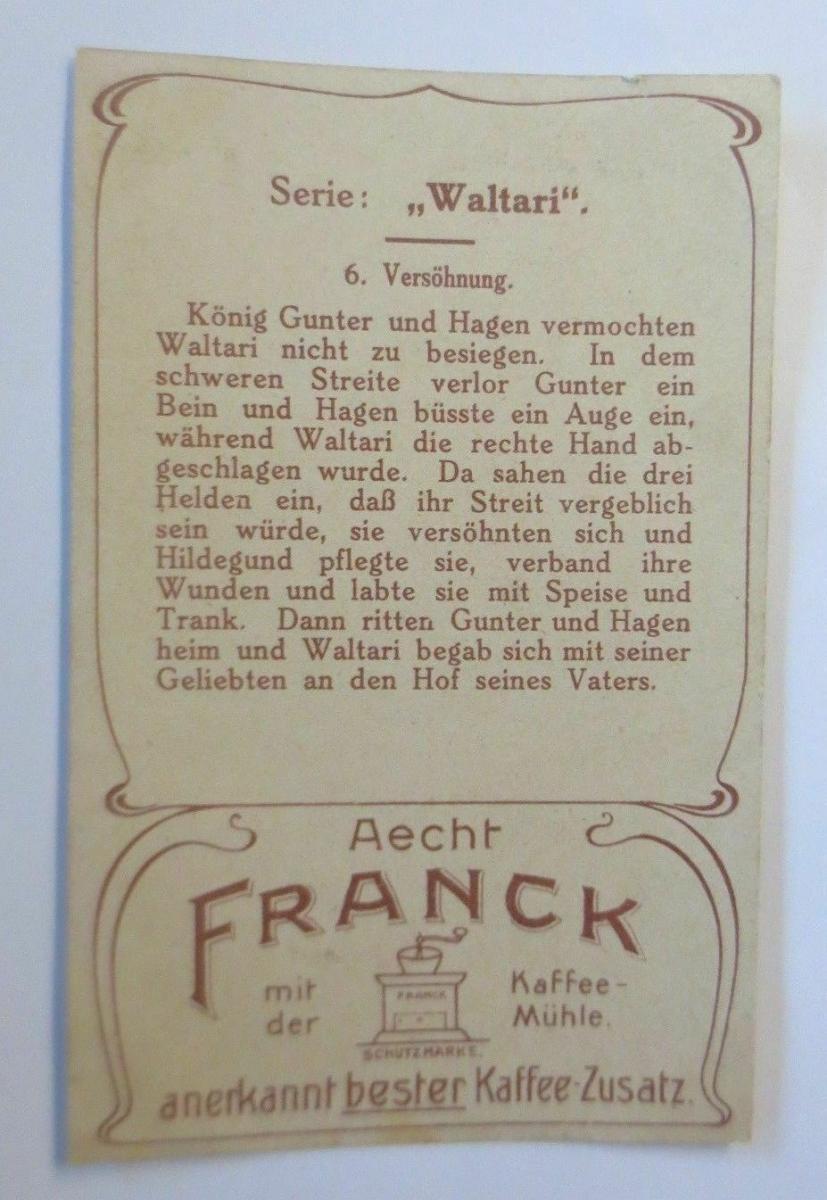 Kaufmannsbilder,  Aecht Franck Kaffee, Serie Waltari, Nr.6   ♥ 1