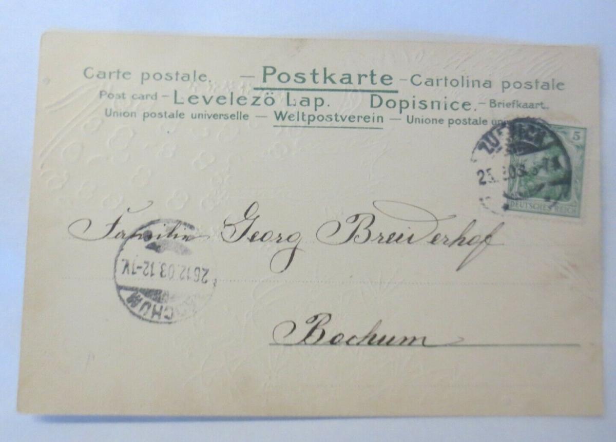 Weihnachten, Engel, Weihnachtsbaum, Süßes, 1903, Golddruck, Mailick ♥ (51021) 1
