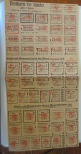 Lebensmittelkarten, Stadt Stuttgart Käse, Butter, Mehl, Brot, 1919 ♥ (X176)