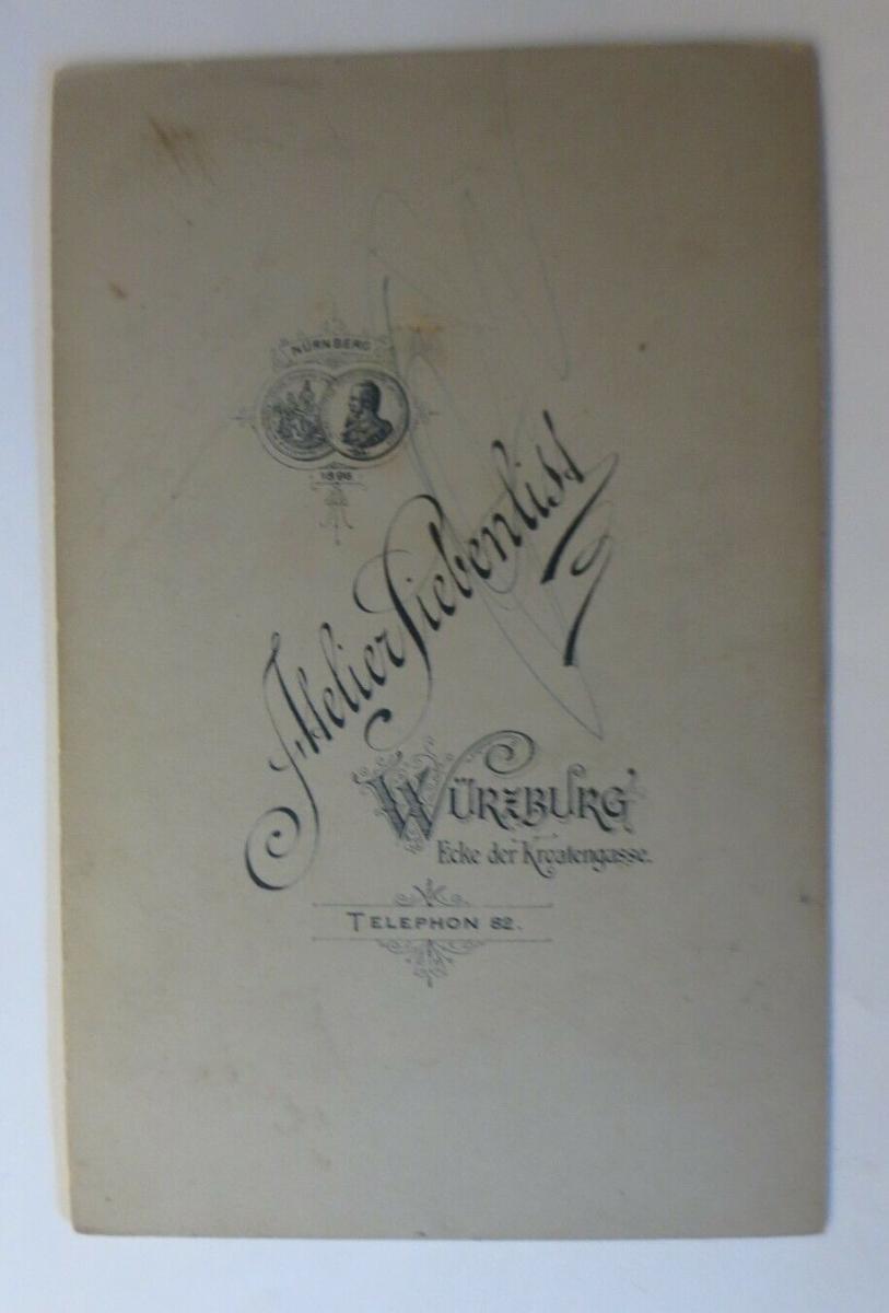 CDV, Foto  Frauen, Mode, Atelier Siebenlist Würzburg, Nürnberg, 1900  ♥ (18413) 1