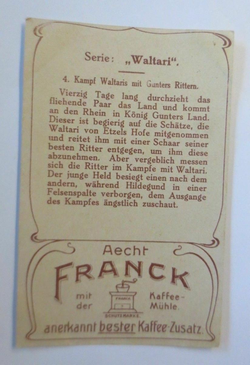 Kaufmannsbilder,  Aecht Franck Kaffee, Serie Waltari, Nr.4   ♥ 1