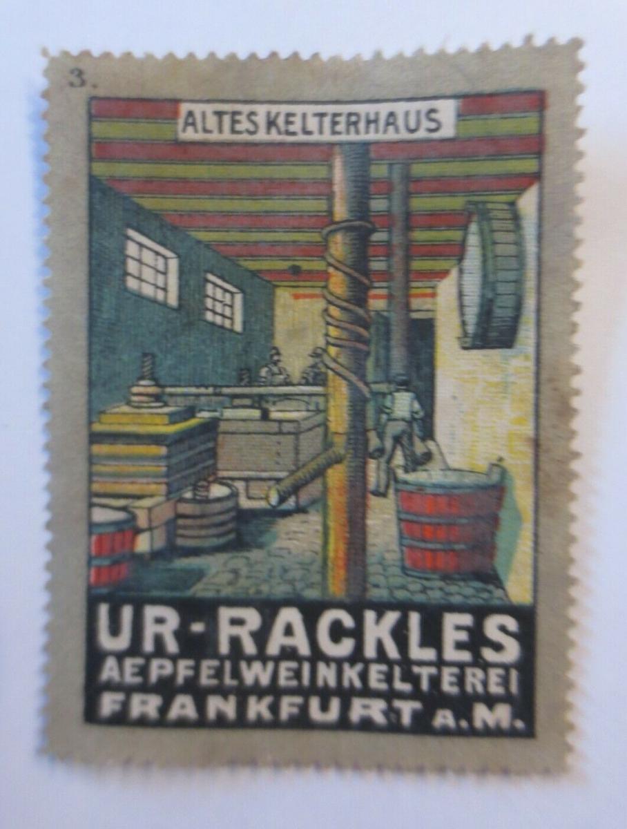 Vignetten Ur-Rackles Apfelweinkelterei  Frankfurt a.M.  1900 ♥ (19871) 0