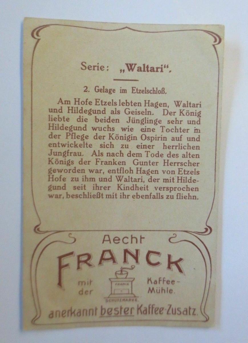 Kaufmannsbilder,  Aecht Franck Kaffee, Serie Waltari, Nr.2   ♥ 1